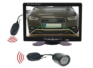 "Rear View Camera 25 MM Ø, 7 "" Monitor Funkübertrager Fits for Honda"