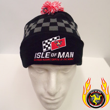 Isle of Man TT Road racing capital of the world bobble hat Black