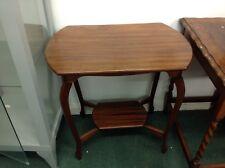 Vintage Dark Oak Hall Table With Undershelf