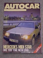 Autocar (15 Jan 1986) Vauxhall Belmont, Mercedes 200, Treser Audi 90, Westfield