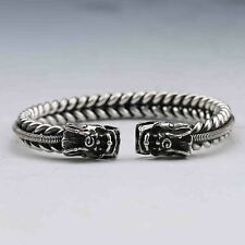 Old Tibet Silver twist-style creative Dragon Bracelet 41