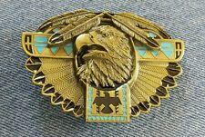 EAGLE BRASS TONED SOUTH WESTERN NATIVE AMERICAN DESIGN BELT BUCKLE BERGAMOT USA