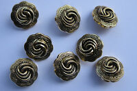 20mm Medium Fancy Antique Gold Scalloped Pattern Vintage Sewing Buttons Set of 8