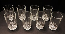 Luminarc 8 Glasses - Celebrity Cut Glass Tumblers Kitchen Barware - Holds 10ozs