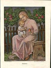 """Bild aus altem Buch """"Madonna""""   (OR1)"""