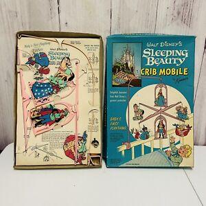 1958 Walt Disney Sleeping Beauty Crib Mobile Pink 275 Kenner