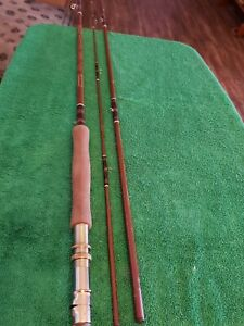 1-Shakespeare ITCO FY12-R 8' Fiberglass 3Pc Vintage Fly Fishing Rod Collectible