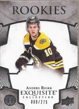 ANDERS BJORK 2017-18 UD Exquisite Collection Rookie #88/275 Boston Bruins