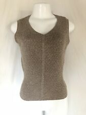 DRIES VAN NOTEN Sweater V neck sleeveless Metallic Size small