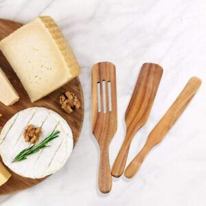 3pc/set Wooden Spurtles Kitchen Tools Nonstick Heat Resistant Wood Utensils Set