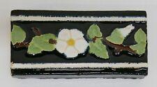 Malibu Floral Trim Stretcher Tile California//Black