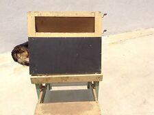 Antique/Vintage Painted Wood Child's Desk & Chair & Chalkboard*Folds up Flat