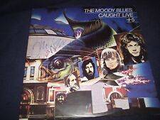 "THE MOODY BLUES SIGNED RECORD ""CAUGHTLIVE+5"" JUSTIN HAYWARD RARE! L@@K PROOF!"