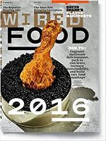 WIRED MAGAZINE AUGUST 2016  FOOD  NEW&UNREAD DAY U PAY IT SHIPS FREE