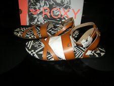 Brand New Womens Tan Brown Roxy Oaxaca Sandals, Size 8 M