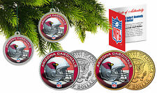 ARIZONA CARDINALS Christmas Tree Ornaments JFK Half Dollar US 2-Coin Set NFL
