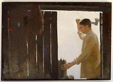 Original Modern Contemporary Expressionism Oil Painting Man Figure Genre