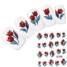 Nail Art Aufkleber Nagel Sticker Blumen Flower Fuß Water Decal