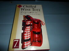 CHILLED WINE SOFT TOTE/Carrier~7 Piece~MICROCORE Chilling Element~New in Box!