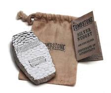 1 Kilo Tombstone Silver Nugget Bullion Bar .999 Fine Silver 32.15 ounces #A262