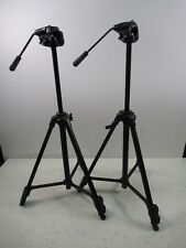 Lot of 2 Sony VCT-R640 Tripods Dual Stage Camcorder Mount Lightweight Compact