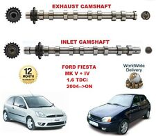 FOR FORD FIESTA MK V VI 1.6 TDCi 2004-->ON NEW INLET & EXHAUST ENGINE CAMSHAFT