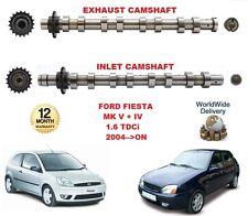 Para Ford Fiesta Mk V VI 1.6 TDCI 2004>Encendido Nuevo Admisión Y Escape Motor