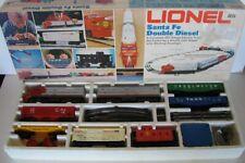 LIONEL TRAIN SANTA FE DOUBLE DIESEL 1974 O SCALE SET # 6-1489 WORKS TRACKS & BOX