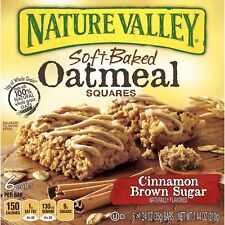 NEW SEALED NATURE VALLEY SOFT BAKED CINNAMON BROWN SUGAR OATMEAL BARS 7.44 OZ