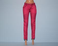 Glam Style Hot Pink Denim Jeans Pants w/ Black Thread Genuine BARBIE Fashion