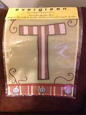 """BOGO - Evergreen Letter T Oak Garden Flag Monogram """"T"""" - NWT"""