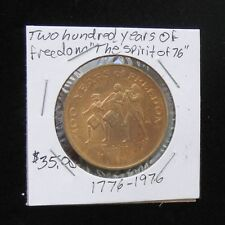 "RARE 1976 ""The Spirit Of 76"" 200 YEARS OF FREEDOM Bronze Medal / Token (UNC)"