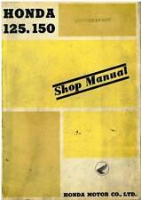 HONDA 125&150 MOTORCYCLE MODEL - C92 CS92 CB92 C95 & CA95 WORKSHOP MANUAL  -1963