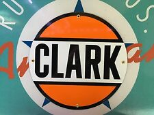 top quality CLARK GASOLINE porcelain coated 18 GAUGE steel SIGN