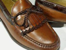 Allen Edmonds Loafers Shoes 8 Extra Wide Kiltie Braided Bow Model Woodstock