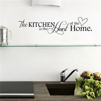 Kitchen is the Heart of Home Wall Stickers Quote Removable Wall Decal Decor BH