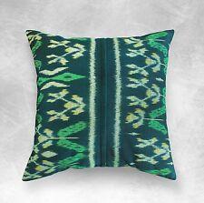 """Green Ikat Pillow, Boho Pillow, Emerald, Handmade, Cotton, Christmas Pillow 18"""""""