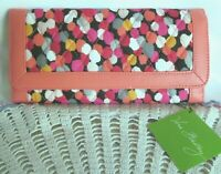 Vera Bradley PIXIE CONFETTI Trifold Wallet Clutch Quilted Fabric New With Tag