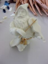 LENOX SANTA FIGURINE PLAYING VIOLIN IVORY/GOLD
