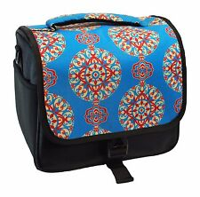 Designer Teal Medallion DSLR Camera Bag, HAN-E226678851000