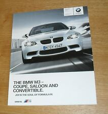 BMW M3 E90 Saloon E92 Coupe E93 Convertible Brochure 2010 - V8