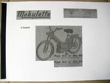 Mobylette/Moped/ AV46 / AV49 /In English/ Parts Book With Exploded Diagrams