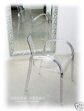 Acrylic Ghost Plexiglass Victoria Armrest Chair Clear Transparent Clear NEW