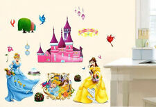 Disney Princess Wall decal Removable sticker kids nursery baby room decor mural