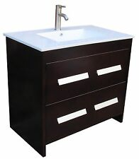 "36"" Bathroom Vanity 36-inch Cabinet Ceramic Top with Integreted Sink Faucet NS1"