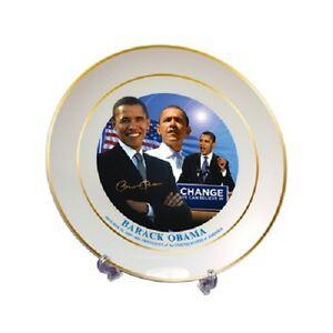 Barack Obama Commemorative Collector's Decorative Display Plate