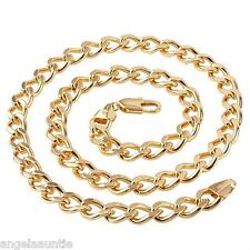 18K Yellow Gold Filled Curb Chain Necklace (N-163)
