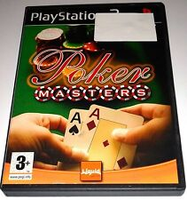 POKER MASTERS for Playstation 2  PS2 - with box & manual