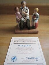 "Vintage Norman Rockwell Museum 1979 ""The Toymaker"" Porcelain Figurine with COA"