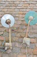 1v2 alte Wandlampe Emaille Fabriklampen Industrie Auslegerlampe Hoflampe 1900+ B
